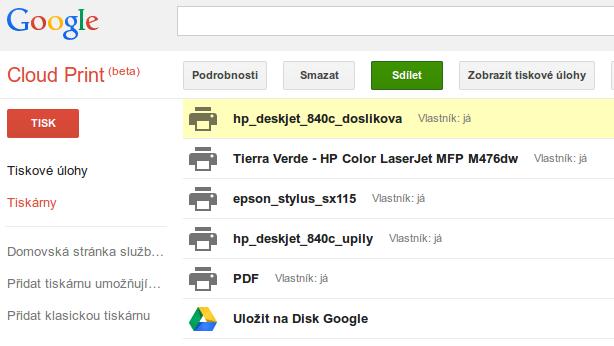 googlecloudprint-seznamtiskaren